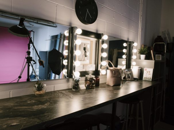 The One Studio dual makeup stations